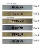 Berlin Clock Name Plate |World Time Zone City Wall clocks Sign custom Plaque